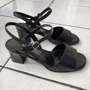 Easy Spirit Sandals Ankle Strap Wedge sz 8 W